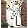 Burbage AB52 Abbey low bow top metal garden gate fits 914mm gap x 1340mm high black colour