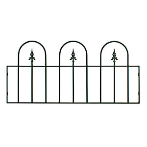 Burbage V04 Village hoop top metal green railing panel 508mm x 1143mm