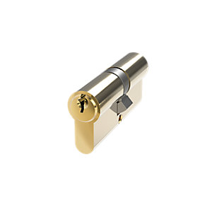 Mila Prolina 6 Pin Double Euro  Cylinder 40/40 Brass