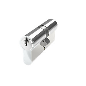 Mila Prolinea 6 Pin Double Euro Cylinder 35/35 Polished Chrome Anti-drill