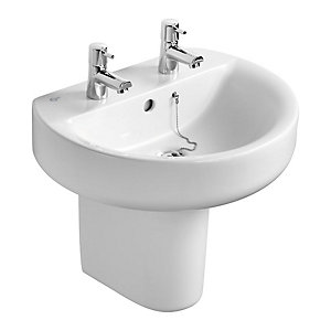 Ideal Standard Concept Semi Pedestal for 50cm 55cm/60cm Basins E783901