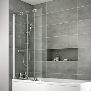 TP Bathrooms 4 Fold Bath Screen