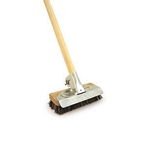 "9"" Heavy Duty Patio Deck Scrubber with Metal Bracket"""