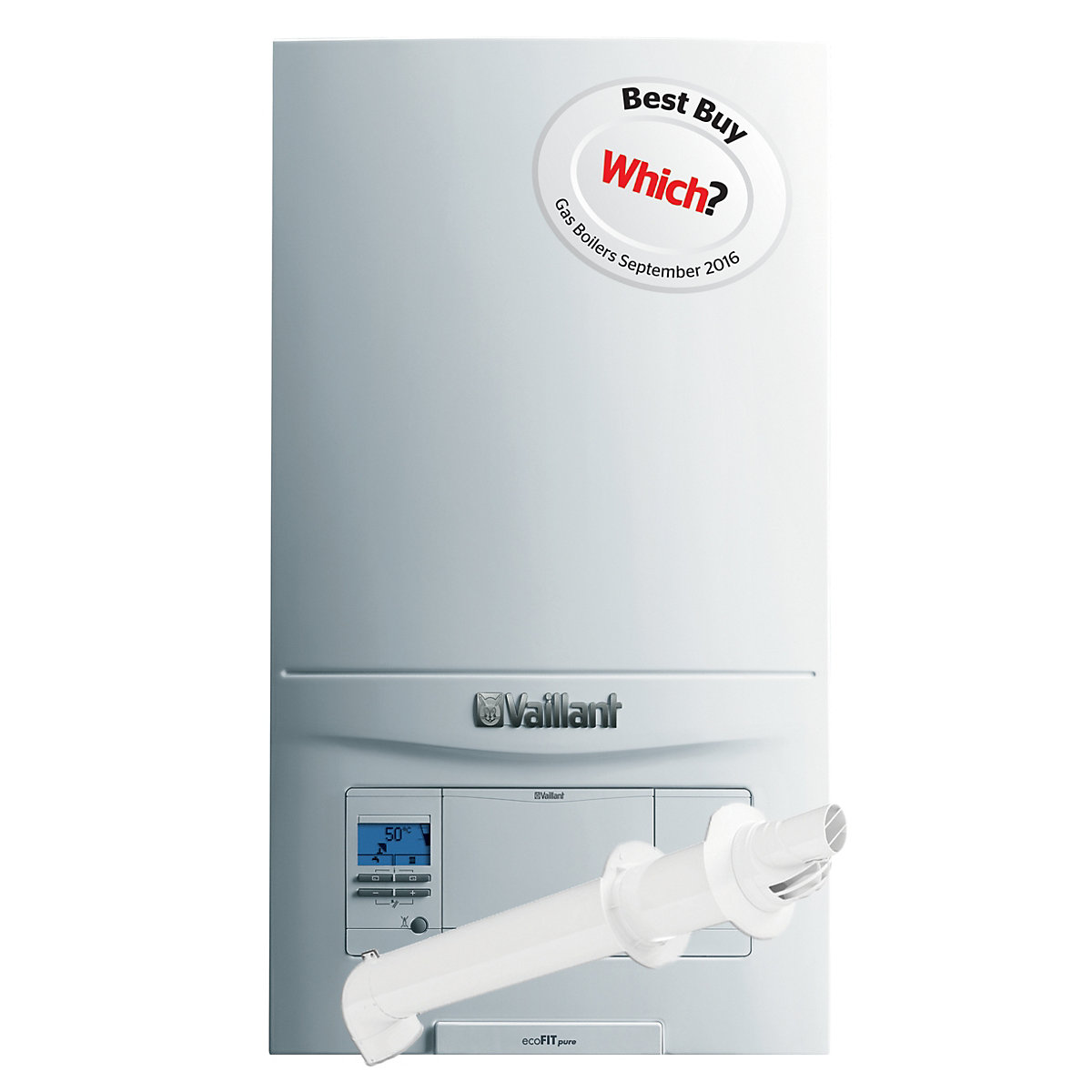 Vaillant Ecofit Pure 30kW Combi Natural Gas Boiler with Horizontal ...