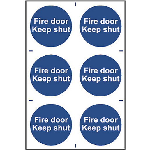 Spectrum Fire Door Keep Shut (Regular) Pack of 6