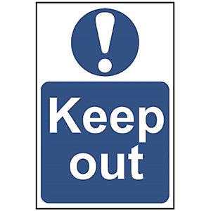 Spectrum 0255 Regular Size Keep Out Sign