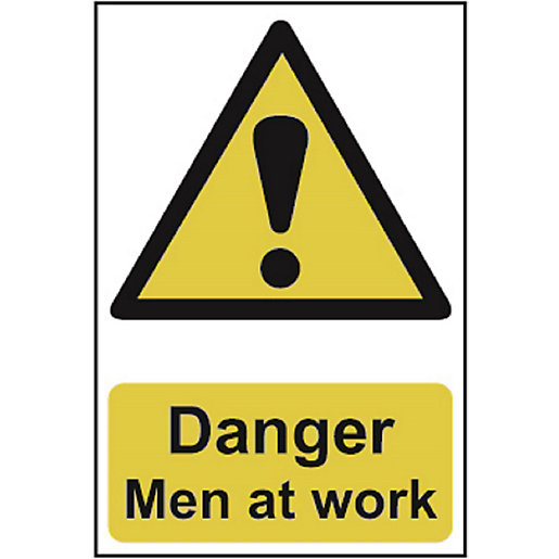 Spectrum Danger Men At Work Sign