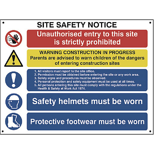 Spectrum Jumbo Composite Site Safety Sign