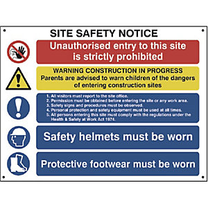 Spectrum 4550 Jumbo Composite Site Safety Sign