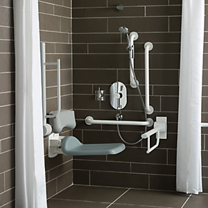 Contour 21 Doc M Unisex Shower Pack with White Rails S6960AC