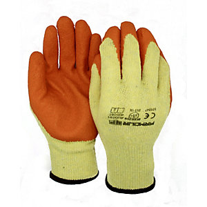 Armour Up Latex Builder Grip Gloves Large