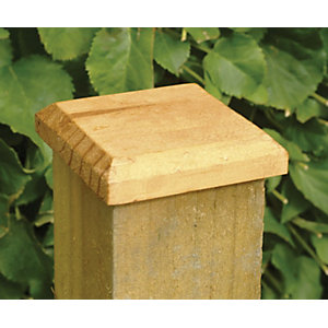 Fence Post Cap Pressure Treated Green 125mm x 125mm