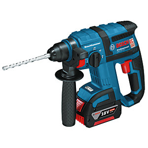 Bosch GBH 18V-EC 18V Brushless SDS+ Rotary Hammer Drill with 2 x 5.0Ah Batteries (L-BOXX)