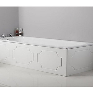 Tavistock Milton Wood End Bath Panel White 700mm O317
