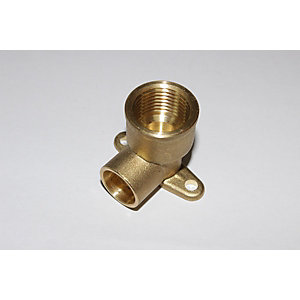 "PlumbRight Solder Ring Fitting 15 mm x 1/2"" Wall Plate Elbow"""
