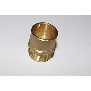 "PlumbRight Solder Ring Fitting 15 mm x 1/2"" Straight Male Connector"""