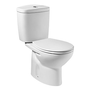 Roca Laura Close Coupled Cistern and Chrome Lever White A341304004