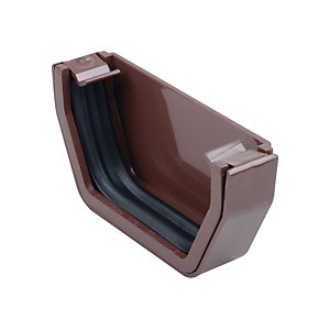 Osma SquareLine 4T811 External Stopend 100mm Brown