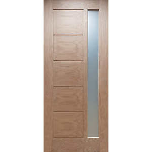 Modena Glazed External Oak Door 44mm X 2032mm X 813mm