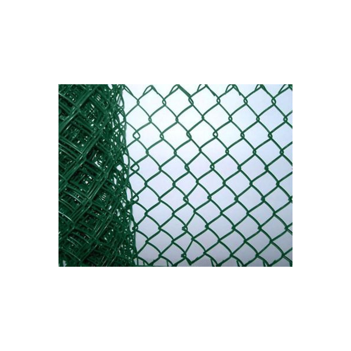 Green Plastic Coated Chainlink Fence 900mm x 50mm x 2.5mm x 10m ...