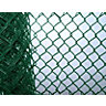 Green Plastic Coated Chainlink Fence 900mm x 50mm x 2.5mm x 10m