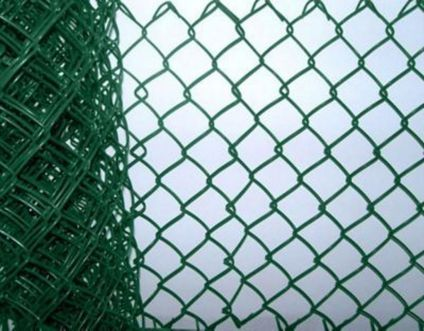 Green Plastic Coated Chainlink Fence 900mm x 50mm x 2 5mm x 10m