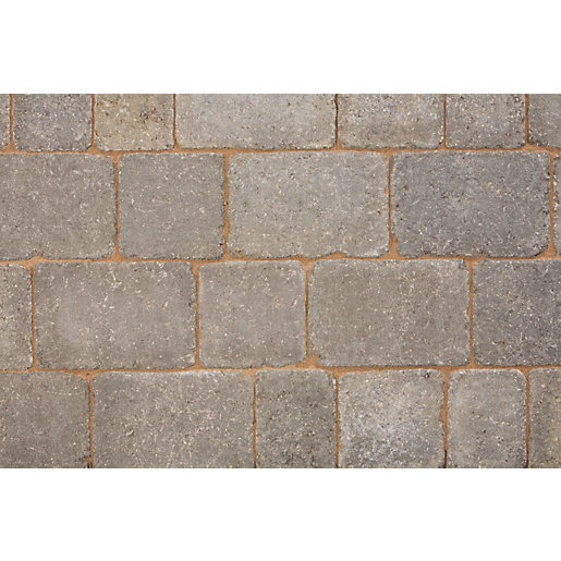 Marshalls Drivesett Tegula Original Pennant Grey Block Paving Pack 240mm x 160mm x 80mm