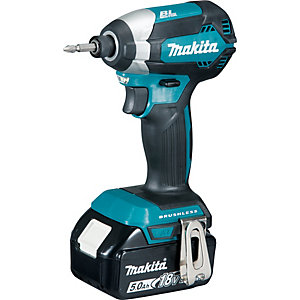 Makita 18V Lxt Brushless Impact Driver with 2 x 5AH Batteries DTD153RTJ