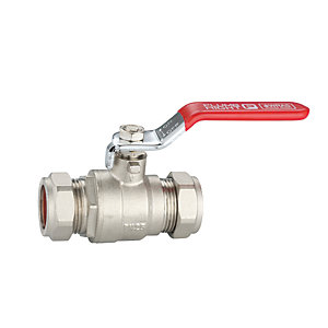 Plumbright Red Handle Lever Ball Valve - 22mm