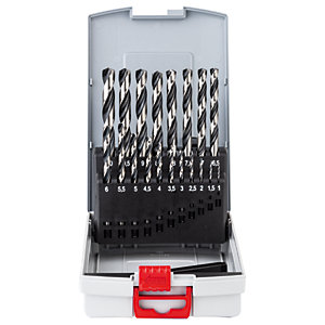 Bosch 1-10 mm 19-PIECE Probox Metal Drill Bit Set HSS-pointteq 2608577351