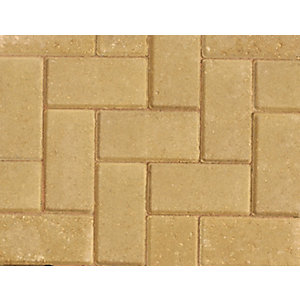 Marshalls Standard Concrete Block Paving Buff 200 x 100 x 50 - Pack of 488 (9.76m2)