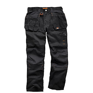Scruffs Blk Worker Plus Trouser 32inCHW 33inCHL