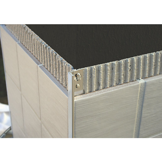 Genesis 10mm Polished Chrome Straight Edge Tile Trim ESA100.91