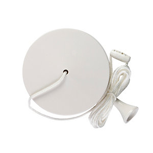 Volex White Moulded 6AX 1 Way Pull Cord Ceiling Switch