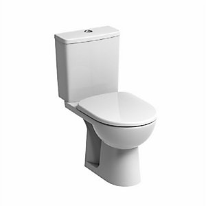 Twyford E100 Square Close Coupled Cistern E12490WH