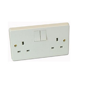 Crabtree 2 Gang Dp 13A Switched Socket 4306/D