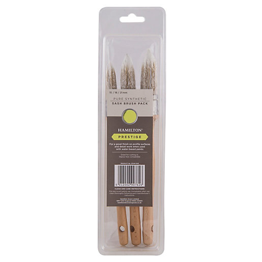 Hamilton Prestige Synth Sash Brush 3 Pack 1 x 15 18 21mm