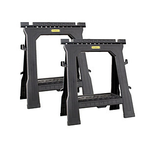Stanley Folding Saw Horse - Twin Pack STST1-70713