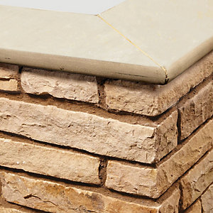 Natural Paving Accessories Golden Fossil 600 x 150 Coping