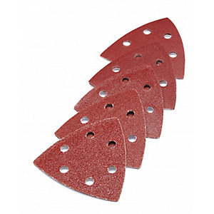 PUNK 93mm Triangular Assort Sanding Pads Red 60/80/100/120/180gRIT 2 Per Grit