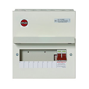 Wylex NM806FLEX 8WAY Flexible Consumer Unit 100A Main Metal