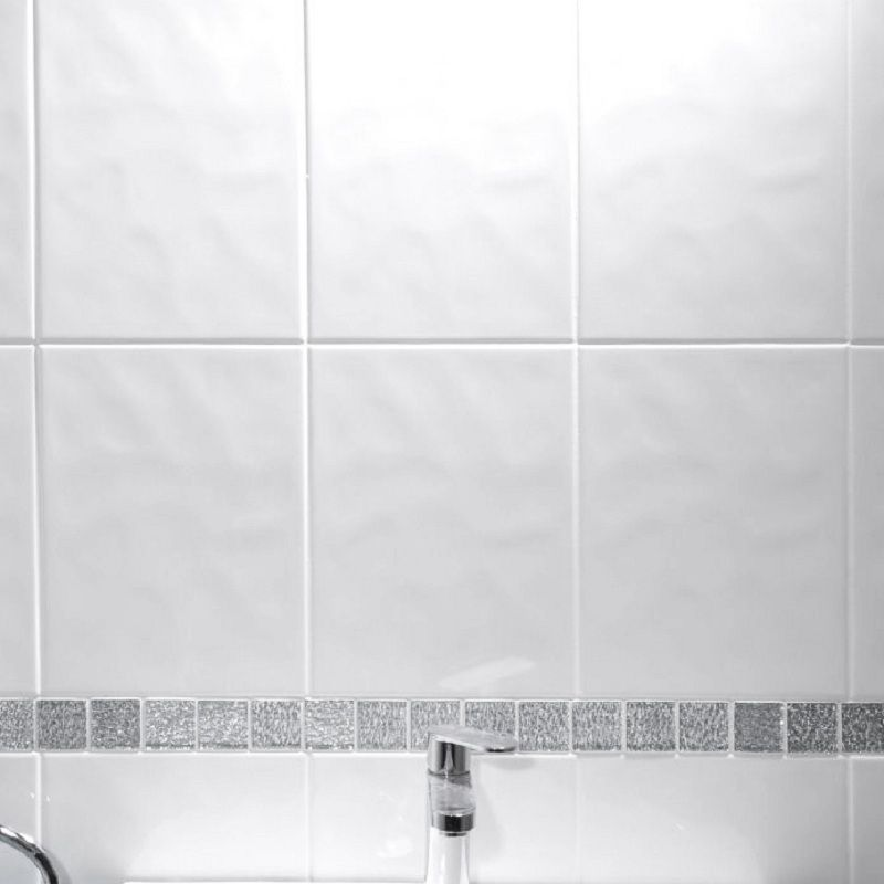 White bathroom tiles Green Check Stock At Your Local Branch Travis Perkins Johnsons Alpine Bumpy White Tile 300mm 200mm Pack Of 17 Alpn1a
