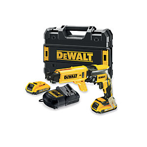 DeWalt 18V XR Li-Ion Brushless Cordless Collated Drywall Screwdriver Gun - Includes 2 x 2.0AH Batteries DCF620D2K