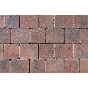 Tobermore Tegula Heather. Three sizes in one pack. 13.05m2 coverage.