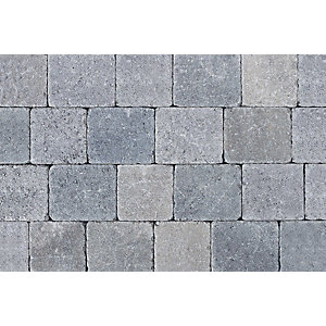 Tobermore Tegula Trio in Slate - Three sizes in one pack. 13.65m2 coverage