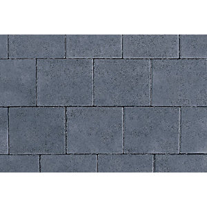 Tobermore Shannon Charcoal. Two sizes in one pack. 13.86m2 coverage.