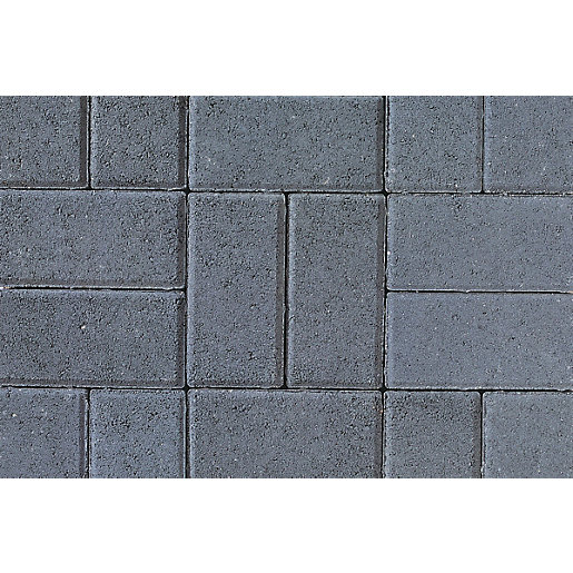 Tobermore Pedesta Charcoal, decorative Concrete Block Paving 200x100x50mm.