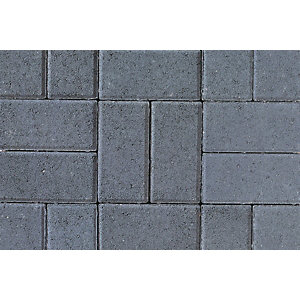 Tobermore Pedesta Charcoal, decorative Concrete Block Paving 200x100x50mm.""