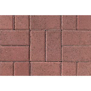 Tobermore Pedesta Red, decorative Concrete Block Paving 200x100x50mm.