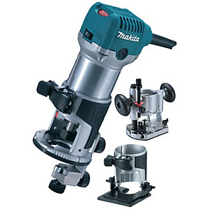 """Makita 240V 1/4"""" Router/Trimmer with Tilt and Plunge Base RT0700CX2/2"""""""